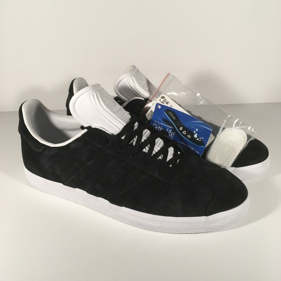 outlet store 0fc08 11916 ADIDAS ORIGINALS GAZELLE BLACK WHITE SUEDE NWT